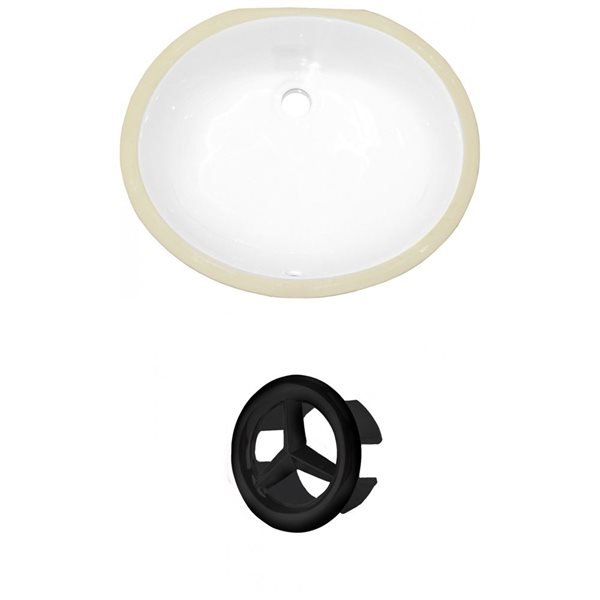 "Undermount Sink Set - 16.5"" - Ceramic - White"