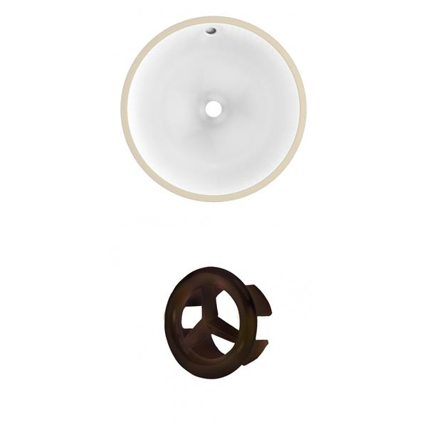 """Undermount Sink Set - 15.75"""" - Ceramic - White"""