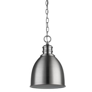 Acclaim Lighting Colby 9-in Silver 1-Light Pendant