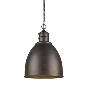 Acclaim Lighting Colby 17.5-in Oil Rubbed Bronze 1-Light Pendant