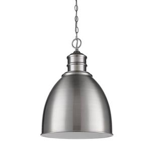 Acclaim Lighting Colby Nickel 1 Light Pendant Light