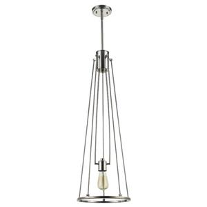Acclaim Lighting Jade 8-in Polished Nickel 1-Light Pendant