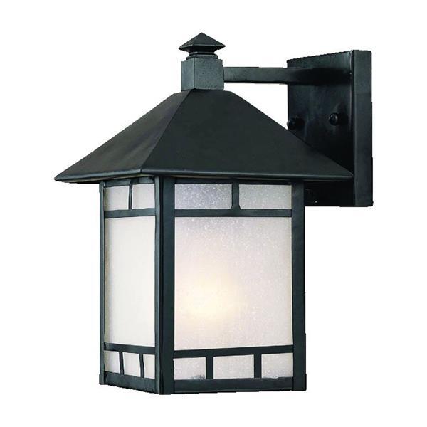 Acclaim Lighting Artisan 10-in Matte Black Outdoor Wall Lantern