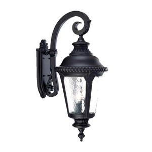 Acclaim Lighting Surrey 29.25-in Matte Black 3-Light Outdoor Wall Lantern
