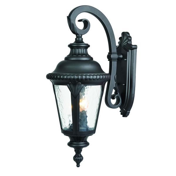 Acclaim Lighting Surrey 24.5-in Matte Black 3-Light Outdoor Wall Lantern