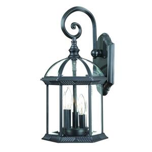 Acclaim Lighting Dover 19-in Matte Black 3-Light Outdoor Wall Lantern