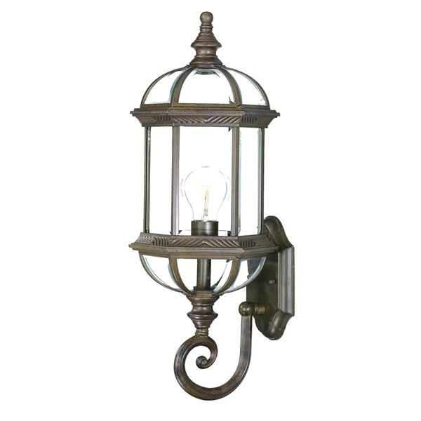 Acclaim Lighting Dover 21.5-in Burled Walnut 1-Light Outdoor Wall Lantern