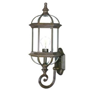 Acclaim Lighting Dover 21.5-in Burled Walnut 1-Light Outdoor Wall Lantern