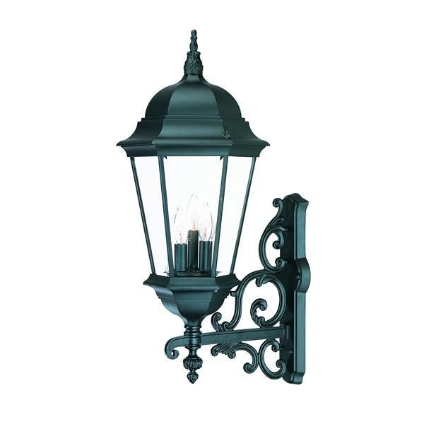 Acclaim Lighting Richmond 29.25-in Matte Black 3-Light Clear Beveled Outdoor Wall Lantern