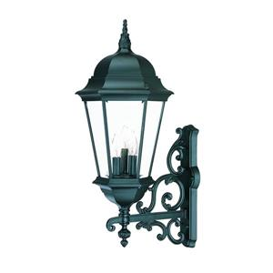 Acclaim Lighting Richmond 29.25-in Matte Black 3-Light Clear Beveled Outdoor Wall Lantern