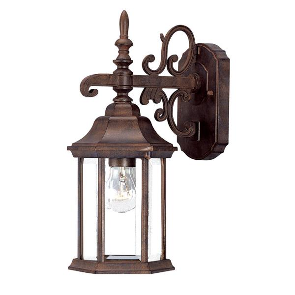 Acclaim Lighting Madison 15.00-in x 6.10-in Burled Walnut Outdoor Wall-Mount Light