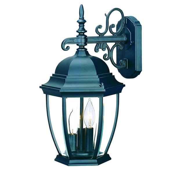 Acclaim Lighting Wexford 17.5-in Matte Black 3-Light Outdoor Wall Lantern
