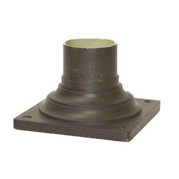 Base de lampadaire extérieur, brun
