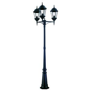 Acclaim Lighting Matte Black 3-Light Richmond Outdoor Lantern and Post