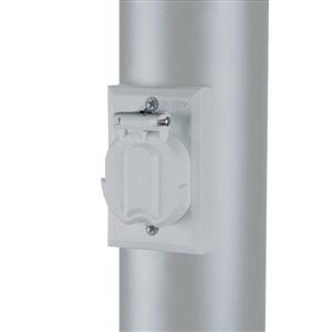 Acclaim Lighting Gloss White Outdoor Outlet for Light Post