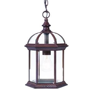 Acclaim Lighting Dover 13.75-In x  8.00-In Burled Walnut 1 Light Hanging Outdoor Lantern