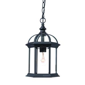 Acclaim Lighting Dover 13.75-In x  8.00-In Matte Black 1 Light Hanging Outdoor Lantern