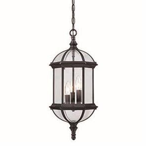 Acclaim Lighting Dover 22.25-In x  9.75-In Matte Black 3 Light Hanging Outdoor Lantern