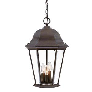 Acclaim Lighting Richmond 18.50-In x 12.25-In Burled Walnut 3 Light Outdoor Hanging Lantern