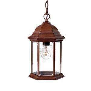 Acclaim Lighting Madison 14.00-In x 8.00-In Burled Walnut 1 Light Hanging Outdoor Lantern