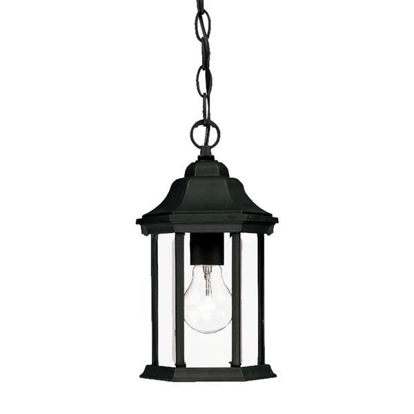 Acclaim Lighting Madison 12.00-In x 6.25-In Matte Black 1 Light Hanging Outdoor Lantern
