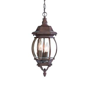 Acclaim Lighting Chateau 19.50-In x 8.00-In Burled Walnut 3 Light Hanging Outdoor Lantern