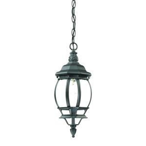 Acclaim Lighting Chateau 17.50-In x 6.25-In  Matte Black 1 Light Hanging Outdoor Lantern