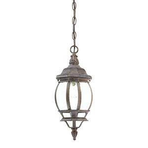 Acclaim Lighting Chateau 17.50-In x 6.25-In  Burled Walnut 1 Light Hanging Outdoor Lantern