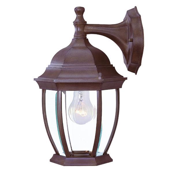 Acclaim Lighting Wexford 14.75-In x 9.50-In Burled Walnut 3 Light Outdoor Lantern