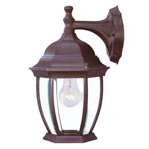 Acclaim Lighting Wexford 14.75-In x 9.50-In Burled Walnut 3 Light Outdoor Lantern