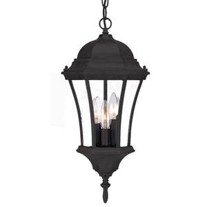 Acclaim Lighting Bryn Mawr 19.50-In x 9.50-In Matte Black 3 Light Hanging Outdoor Lantern
