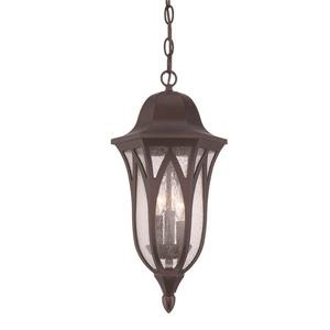 Acclaim Lighting Milano 19.50-In x 9.00-In Architectural Bronze 3 Light Hanging Outdoor Lantern