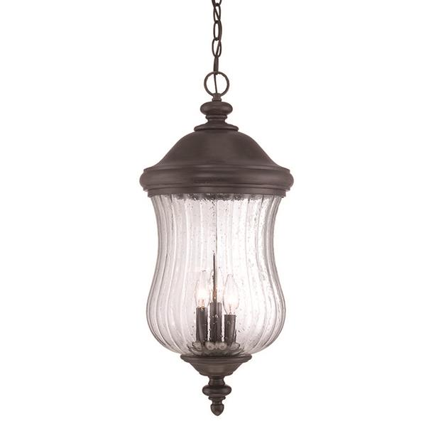 Acclaim Lighting Bellagio 25.25-In x 11.50-In Black Coral 3 Light Outdoor Hanging Lantern