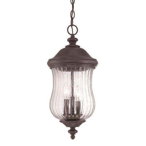 Lanterne suspendue extérieure à 3 ampoules Bellagio