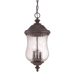 Acclaim Lighting Bellagio 20.25-In x 9.00-In Black Coral Outdoor Hanging Lantern