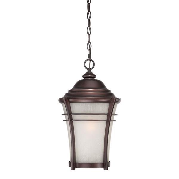 Acclaim Lighting Vero 18.50-In x 10.50-In Architectural Bronze 1 Light Outdoor Hanging Lantern