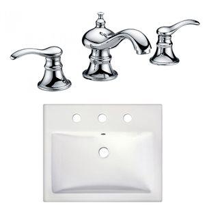 """Ens. vasque semi-encastrée, 20,75"""", céramique, blanc"""