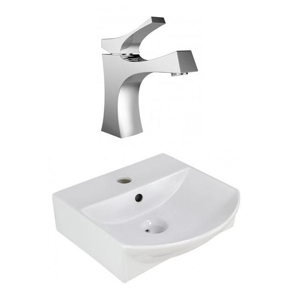 """Ens. vasque avec trop-plein, 13,75"""", céramique, blanc"""