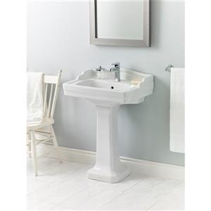 "Cheviot Essex Pedestal Bathroom Sink - 24"" x 18"" - White"