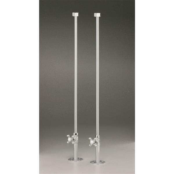 Cheviot Water Supply Lines for Rim Mount Bathtub Fillers - Chrome