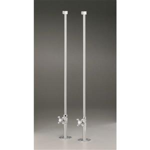 Water Supply Lines for Rim Mount Bathtub Fillers - Chrome