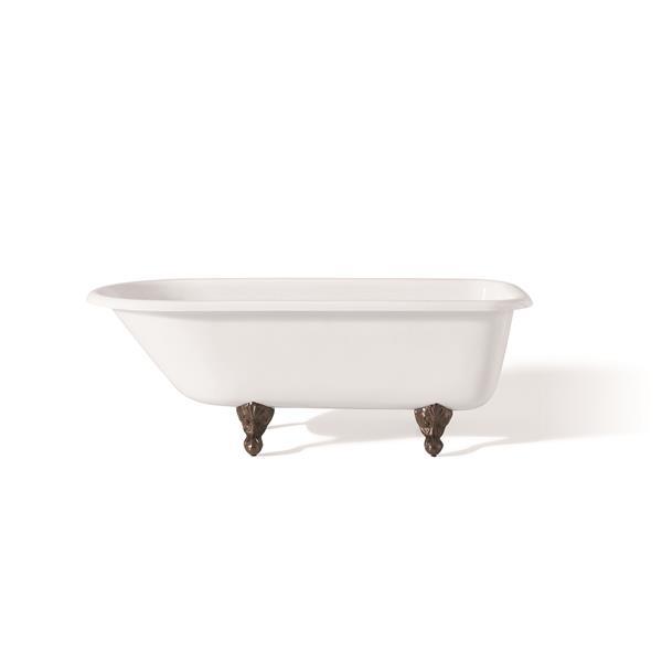 Cheviot Traditional Clawfoot Soaking Bathtub 54 X 30 White 2094 Ww Ab Rona