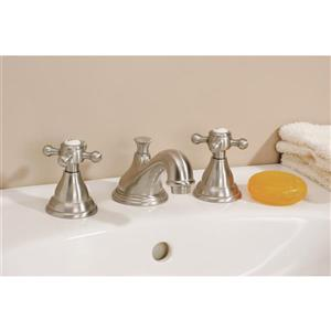 Cheviot Bathroom Faucet with Cross Handles - Brushed Nickel