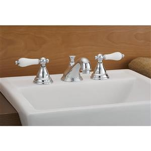 Cheviot Bathroom Faucet with Lever Handles - Antique Bronze