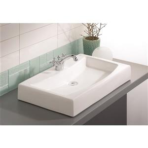 Cheviot Mediterranean Vessel Bathroom Sink - White