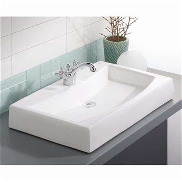 Cheviot Mediterranean Vessel Bathroom Sink - White
