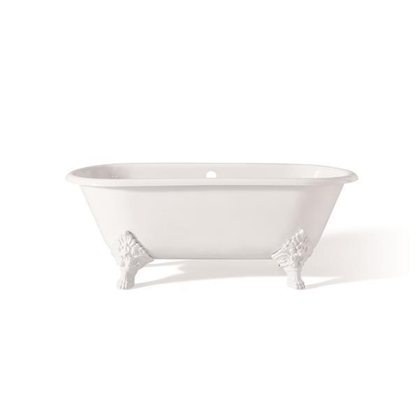 """Cheviot Carlton Cast Iron Bathtub - 70"""" x 32"""" - White"""