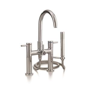 Cheviot Contemporary Bathtub Filler and Hand Shower - Brushed Nickel