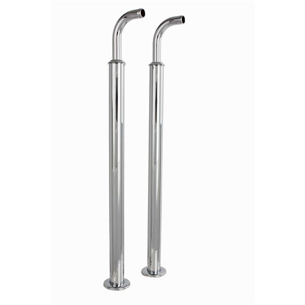 Cheviot Free Standing Heavy Duty Water Supply Lines - Chrome