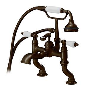 Cheviot Rim Mount Bathtub Filler with Hand Shower - Antique Bronze